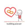 Hochzeitsplaner Ring zeigt