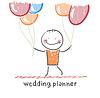 Hochzeitsplaner mit Heliumballons