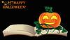 Happy Halloween. Öffnen Sie altes Buch mit Kürbis, Vektor-