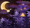 Векторный клипарт: Хэллоуин обои, векторные иллюстрации