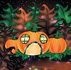 Векторный клипарт: Хэллоуин фон с тыквой дома, вектор