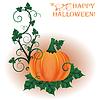 Векторный клипарт: Счастливый Хэллоуин пригласительный билет, векторные иллюстрации