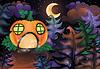 Векторный клипарт: Хэллоуин карты с тыквой замка и луны, ве