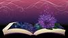 Векторный клипарт: Магия книги с цветком лотоса, векторные иллюстрации