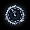 Diamant Ferien weihnachten Uhr Vektor-Illustration