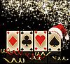 Frohe Weihnachten und glückliches neues Jahr-Casino-Banner