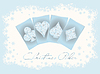 Weihnachten Casino Einladungskarte, Vektor-Illustration