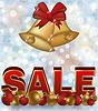 Векторный клипарт: Зимняя распродажа баннер с рождественские колокола, векторные иллюстрации