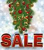 Векторный клипарт: Новогодняя распродажа карты с Новогодняя елка, вектор