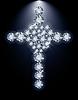 Brilliant Herz und Christ-Kreuz, Vektor-