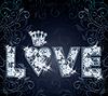 Diamant Liebe Valentinstag Karte, Vektor-Illustration