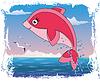 Kinder maritime Cover-Design mit Mädchen dolphin