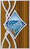 Diamanten-Poker-Karten Schiff Bullauge, Vektor-Illustration
