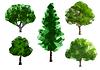 Grüne Bäume | Stock Vektrografik