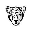 Leiter der Cheetah | Stock Vektrografik