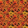 Halloween nahtlose Muster mit Kürbissen Gesichter -