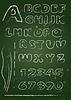 ABC - Englisch Alphabet auf Tafel geschrieben in