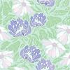Diseño floral sin fisuras con flores en azul claro | Ilustración vectorial