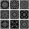 Conjunto de fondos al cuadrado - ornamentales sin fisuras | Ilustración vectorial
