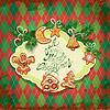 Tarjeta de Navidad de pan de jengibre - cookies en ángel, estrella, | Ilustración vectorial