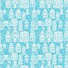 Nahtlose Muster mit Märchen Häuser, Laternen,
