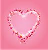 Valentinstag oder Hochzeit rosa Hintergrund mit