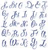ABC - Englisch Alphabet - Handschriftliche kalli