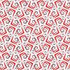 Geometrischen Ornament mit roten grobe Formen | Stock Vektrografik