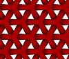 3D kolorowe czerwony trójkątny siatkę | Stock Vector Graphics