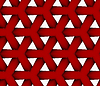 3D rot Dreiecksgitter | Stock Vektrografik