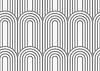Perforiertes Papier mit Archen auf weiterhin Streifen
