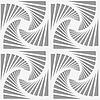 Perforierte Streifen gedreht Dreiecksformen | Stock Vektrografik