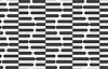 Abwechselnd schwarzen und weißen halbieren Sechsecke