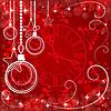 red Weihnachten Hintergrund mit Uhr,