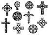 Schwarze und weiße dekorativen keltischen Kreuze