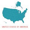 Karte der USA mit trennbaren Grenzen