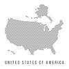 Gepunktete USA-Karte