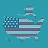 Dot I Flaga Mapa Of America | Stock Vector Graphics