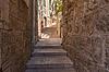 Starożytny aleja w żydowska, Jerusalem | Stock Foto