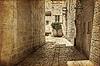 Starożytny aleja w żydowska, Jerusalem. Zdjęcia i | Stock Foto