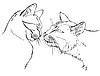 Paar in der Liebe Katzen | Stock Vektrografik