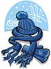 Векторный клипарт: шарф и шляпа