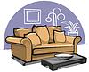 Векторный клипарт: диван