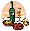 Векторный клипарт: испанская еда