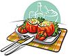 Векторный клипарт: Фаршированные помидоры
