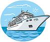 Luxus-Kreuzfahrtschiff | Stock Vektrografik