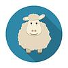 Schaf-Symbol mit langen Schatten