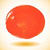 Orange Aquarell malen Kreis