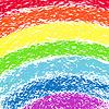 Pastellkreide gemalt Regenbogen, Bild | Stock Vektrografik