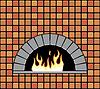 Векторный клипарт: Кирпичная печь с пустыми очага